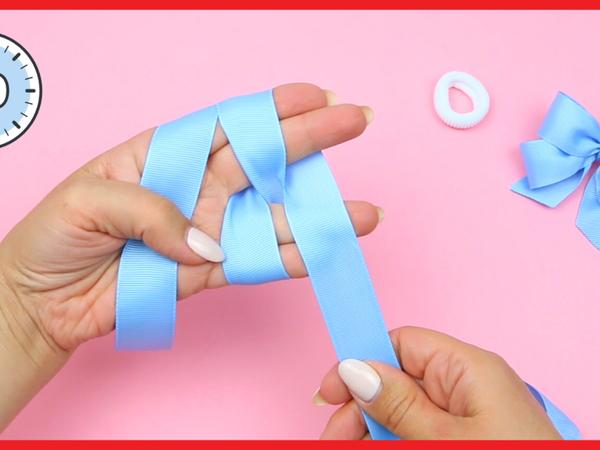 Делаем бантики на резинках за 1 минуту | Ярмарка Мастеров - ручная работа, handmade