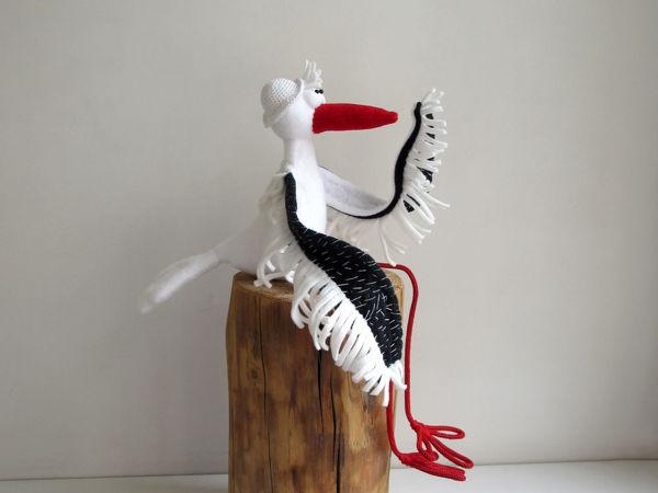 Мягкая игрушка Аист с большими крыльями | Ярмарка Мастеров - ручная работа, handmade