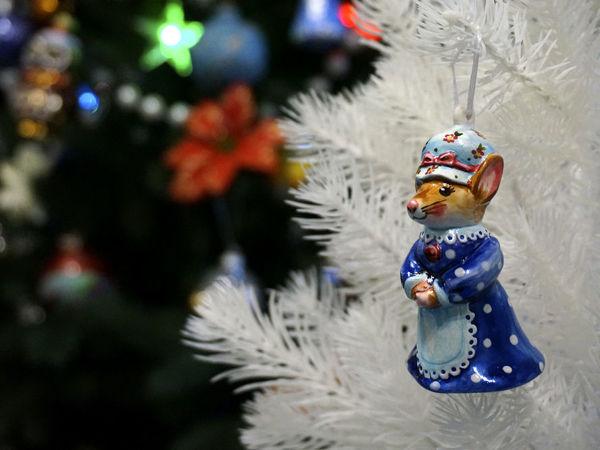 Делаем фарфоровую елочную игрушку «Символ года Мышка» | Ярмарка Мастеров - ручная работа, handmade