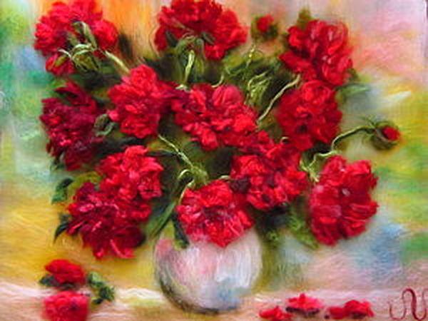 Мастер-класс по рисованию картин из сухой шерсти под стекло, тема - Натюрморт (цветы) | Ярмарка Мастеров - ручная работа, handmade