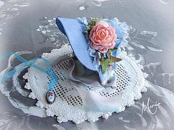 Шьем очаровательную шляпку для куклы   Ярмарка Мастеров - ручная работа, handmade