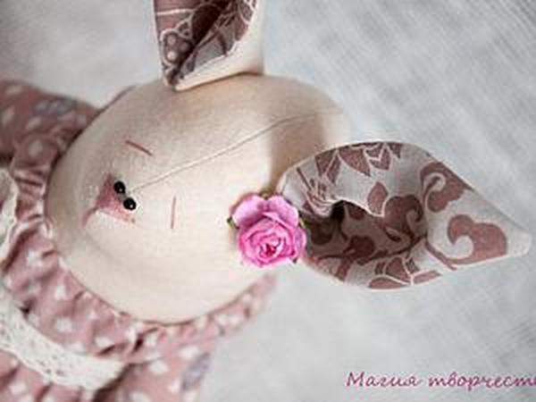 Зайка в розовом | Ярмарка Мастеров - ручная работа, handmade