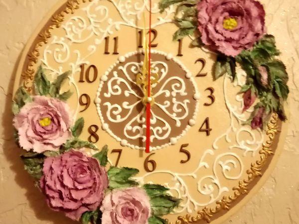 Декорируем основу часов декоративно скульптурной живописью. ЧастьIII | Ярмарка Мастеров - ручная работа, handmade