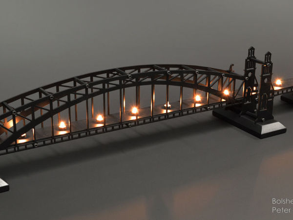 Инсталляция Большеохтинский мост   Ярмарка Мастеров - ручная работа, handmade