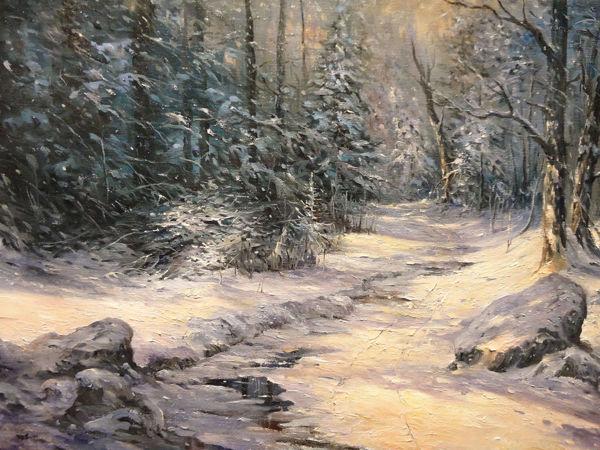 Мастер-класс по масляной живописи  «Зимнее солнце». Часть 1 | Ярмарка Мастеров - ручная работа, handmade