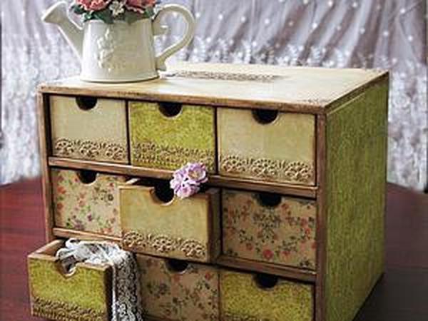 Мастер-класс: декор и состаривание комода для мастерской   Ярмарка Мастеров - ручная работа, handmade