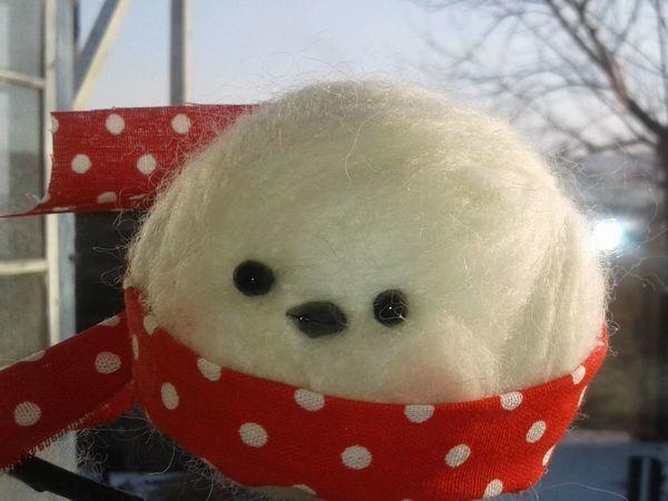 Мастерим из пенопластового шарика декор на окно. Птичка «Снежка»   Ярмарка Мастеров - ручная работа, handmade
