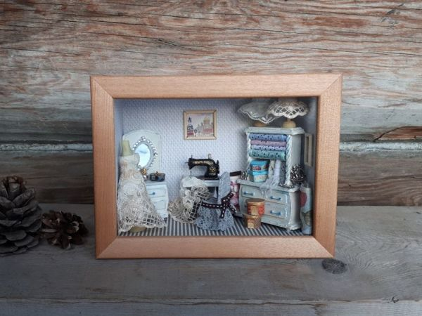Делаем миниатюрный румбокс «Винтажная мастерская» | Ярмарка Мастеров - ручная работа, handmade