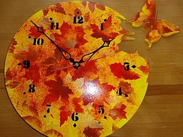 Мастер-класс: осенние часы   Ярмарка Мастеров - ручная работа, handmade