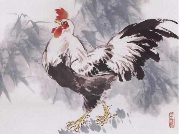 Символ 2017 года в китайской живописи   Ярмарка Мастеров - ручная работа, handmade