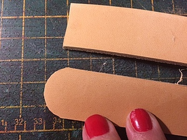 Как ровно обрезать углы на толстой коже   Ярмарка Мастеров - ручная работа, handmade
