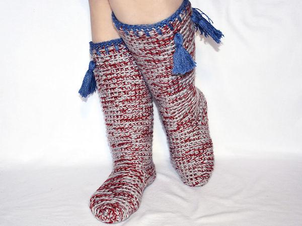 Вяжем крючком сапожки на любимые ножки! | Ярмарка Мастеров - ручная работа, handmade