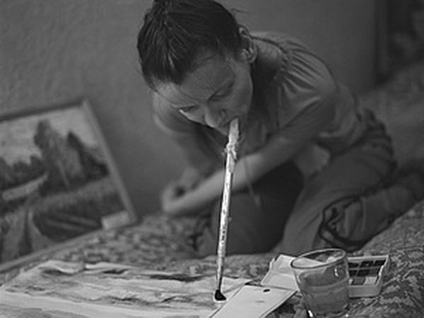 Кисточка послушная губам , уникальная художница Наталия Жижилева !   Ярмарка Мастеров - ручная работа, handmade