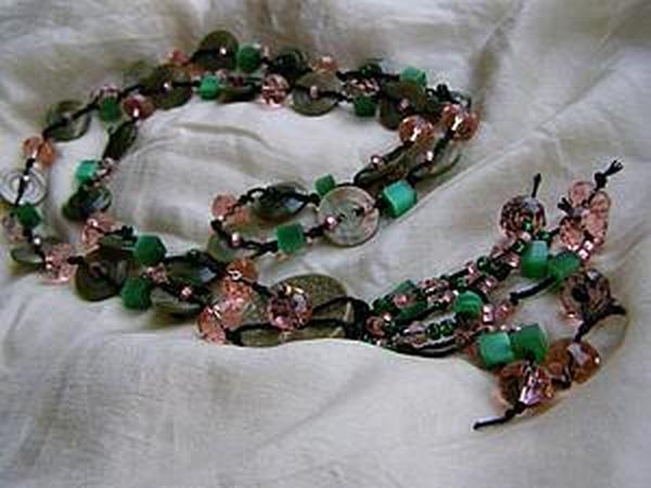Делаем ожерелье из пуговиц - нет предела фантазии | Ярмарка Мастеров - ручная работа, handmade