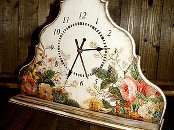 Цветочные часы. Обьемный декупаж! | Ярмарка Мастеров - ручная работа, handmade
