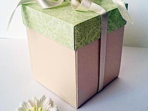 Как сделать симпатичную подарочную коробку своими руками | Ярмарка Мастеров - ручная работа, handmade