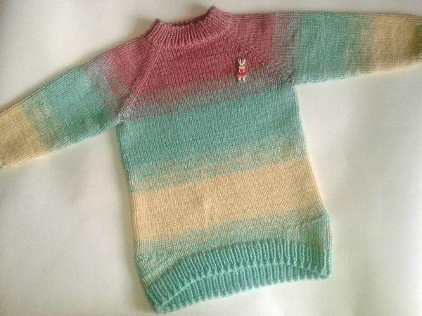 Экспресс мастер-класс по вязанию детского свитера градиентом | Ярмарка Мастеров - ручная работа, handmade
