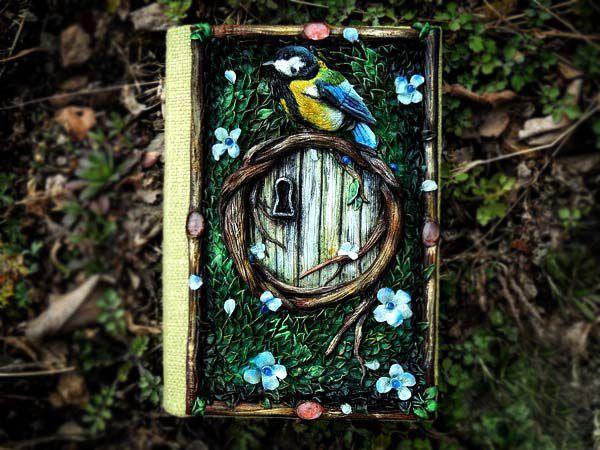Дверь в лес: этапы создания обложки из полимерной глины для блокнота Forest Door | Ярмарка Мастеров - ручная работа, handmade