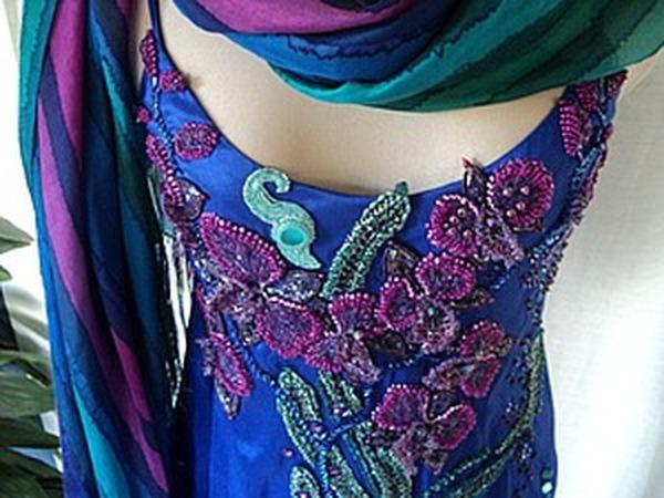 Мастер-класс: вышивка платья бисером. Часть вторая: подготовка рисунка, виды швов | Ярмарка Мастеров - ручная работа, handmade