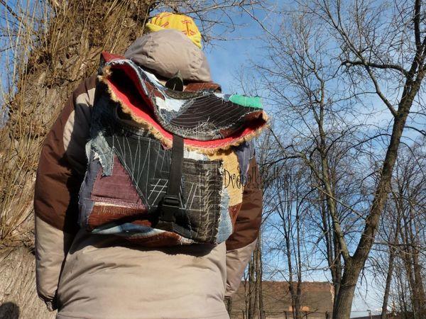 Создаем крейзи-пэчворк рюкзак из лоскутков. Экологичное творчество | Ярмарка Мастеров - ручная работа, handmade