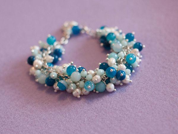 Создаем браслет-гроздь «Пена морская» | Ярмарка Мастеров - ручная работа, handmade