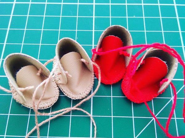 Шьем ботиночки для куклы | Ярмарка Мастеров - ручная работа, handmade