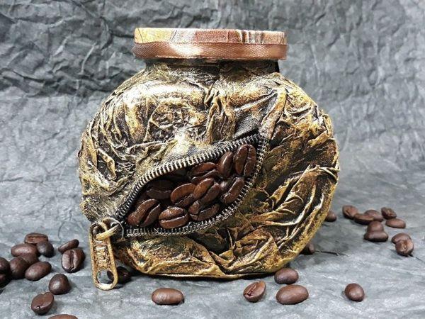Декор банки с кофе | Ярмарка Мастеров - ручная работа, handmade