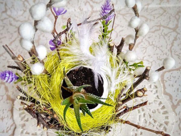 Creating Floral Easter Arrangement | Livemaster - handmade