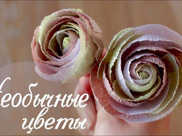 Создаем необычные цветы из гофрированной бумаги | Ярмарка Мастеров - ручная работа, handmade