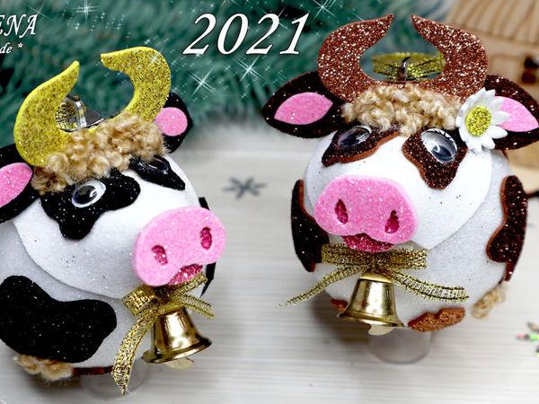 Делаем символ года  «Быка (корову)»  своими руками | Ярмарка Мастеров - ручная работа, handmade