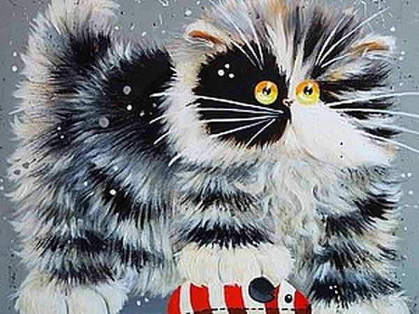 Смешные кошки от английской художницы Kim Haskins | Ярмарка Мастеров - ручная работа, handmade