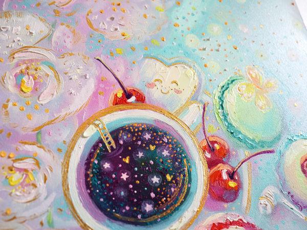 Рисуем маслом орхидеи, вкусняшки, мечты :) Time lapse. Картина  «Время сладко помечтать» | Ярмарка Мастеров - ручная работа, handmade
