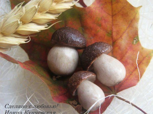 Миниатюрные грибочки «Боровички» из полимерной глины | Ярмарка Мастеров - ручная работа, handmade