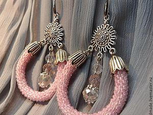 Создаем нежные свадебные серьги «Розовый бриз» | Ярмарка Мастеров - ручная работа, handmade