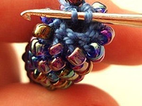 Вязаный жгут из бисера крючком | Ярмарка Мастеров - ручная работа, handmade