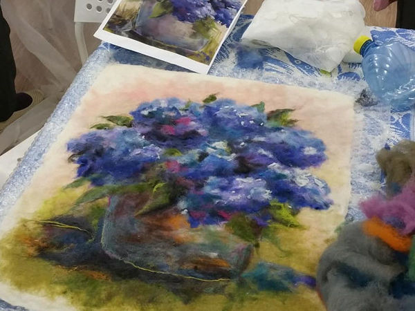 Картина в технике Шерстяная акварель (по мокрому) | Ярмарка Мастеров - ручная работа, handmade