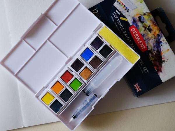 Обзор чернильных красок Derwent Inktense | Ярмарка Мастеров - ручная работа, handmade