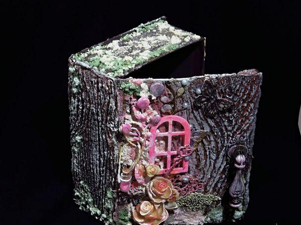Mixed Media Box имитация дерева .Коробка в стиле микс медиа | Ярмарка Мастеров - ручная работа, handmade