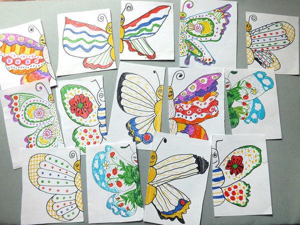 594c87e1b493edc Рисуем вместе с детьми симметричных бабочек для настольной игры «Найди  половинку»   Ярмарка Мастеров