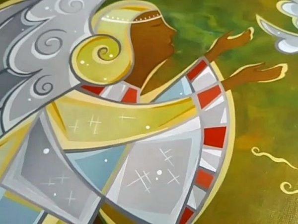 Видеообзор картины маслом  «Ангел с птицей»   Ярмарка Мастеров - ручная работа, handmade