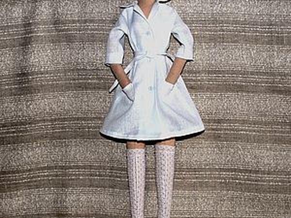 Пошив медицинского халатика для куклы   Ярмарка Мастеров - ручная работа, handmade