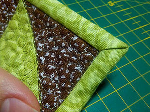 Как аккуратно оформить уголок изделия косой бейкой.   Ярмарка Мастеров - ручная работа, handmade