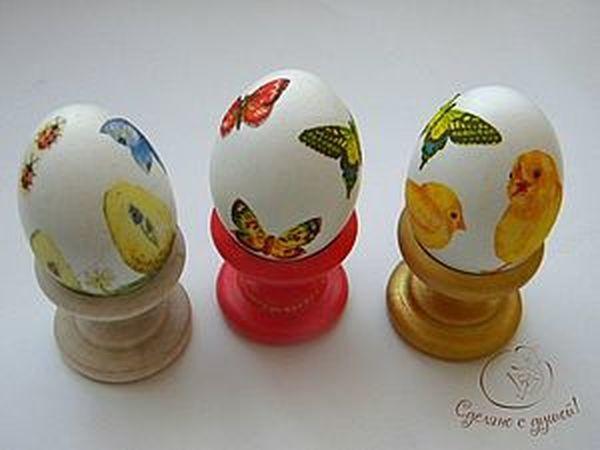 Декупаж яиц к Пасхе: мастер-класс   Ярмарка Мастеров - ручная работа, handmade