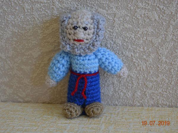 Вяжем персонажа пальчикового кукольного театра «Дед»   Ярмарка Мастеров - ручная работа, handmade