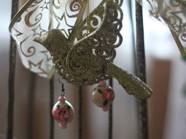 Создаем очаровательные серьги-пионы из глины | Ярмарка Мастеров - ручная работа, handmade