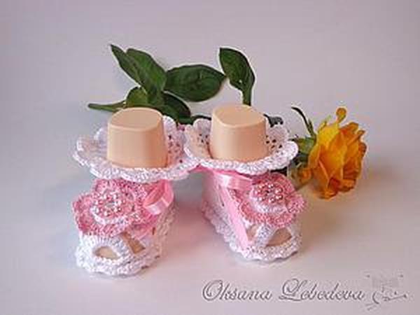 Вяжем крючком пинетки-сандалии для малышки | Ярмарка Мастеров - ручная работа, handmade