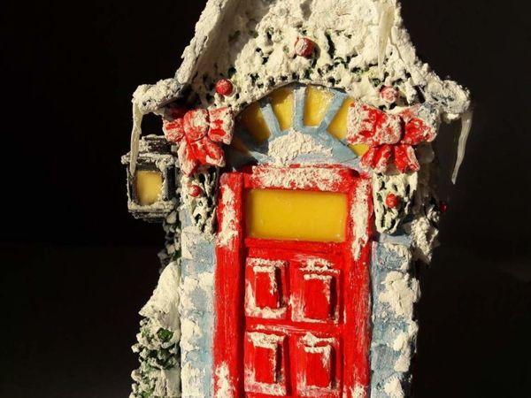 Мастерим рождественский домик из бумажного пакета от молока | Ярмарка Мастеров - ручная работа, handmade