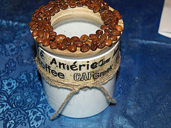 Декорируем баночку для кофе | Ярмарка Мастеров - ручная работа, handmade