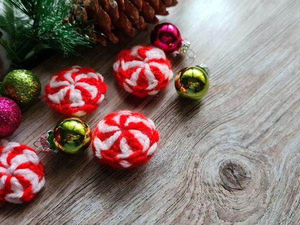 Рождественский леденец крючком | Ярмарка Мастеров - ручная работа, handmade