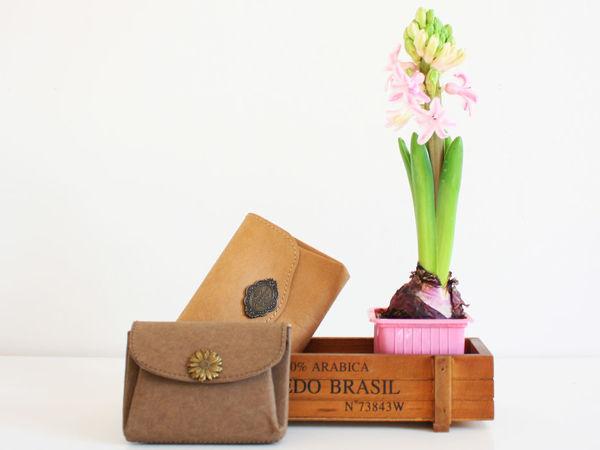 Как сшить кошелек из швейного крафта | Ярмарка Мастеров - ручная работа, handmade